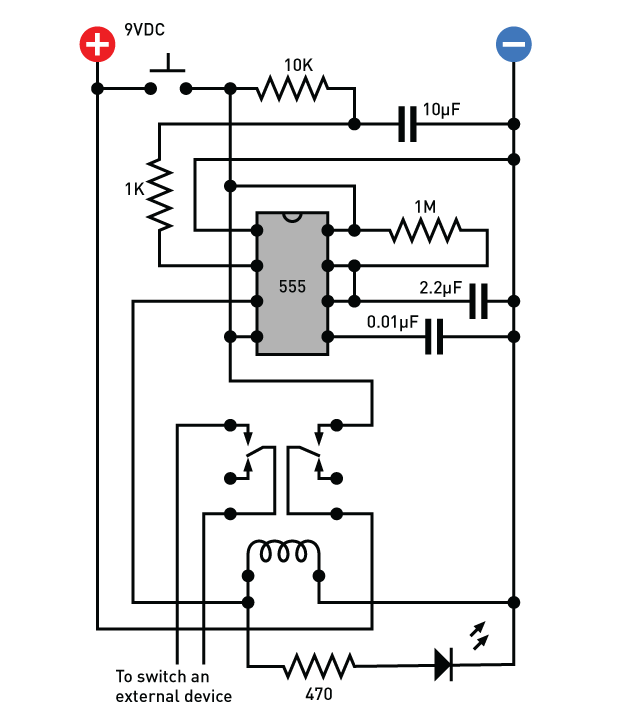 Build a Delay Timer that Doesn't (Energy) | Make: on well pump pressure switch diagram, off delay timer triac, light timer for lighting diagram, off delay relay, hks turbo timer diagram, ic 555 timer diagram, timer switch diagram, dimmer switch installation diagram,