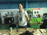 Jason Wang hard at work modding the MTM(m) Fab Academy stages.