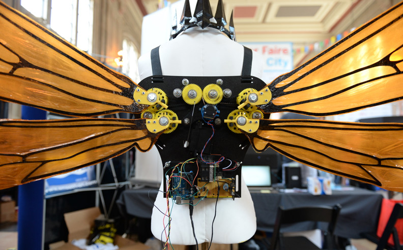 Arduino-Controlled Butterfly Wings and More at Kansas City Maker Faire 2015