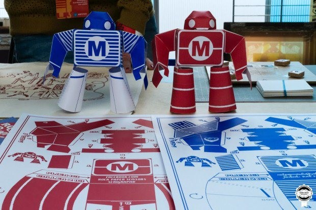 You can download the pattern for artist Rock Paper's adorable bots here.