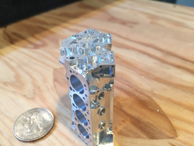 A Miniature V8 Engine Milled From Aluminum On The Pocket NC