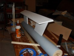 A mostly-completed warp engine tube and wing.