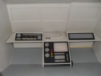 The completed main forward control panels.