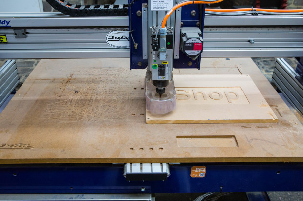 The Bed is where the cutting happens - and where you will attach your piece to be milled.
