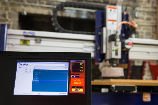 The software is what drives the motors of the router and controls the cutting path.