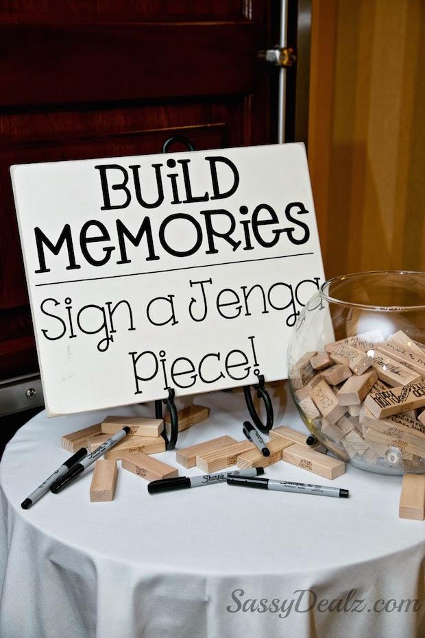 Make Memories: DIY Jenga Wedding Guestbook