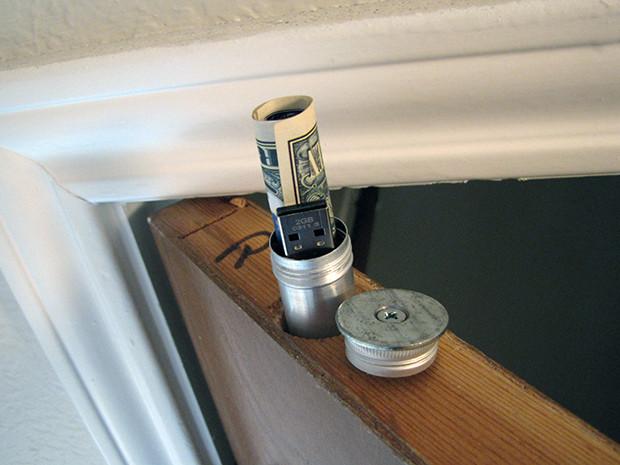Doortop Stash by Sean Michael Ragan — via Make:
