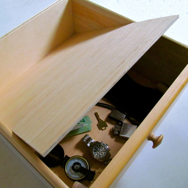 False Bottom Drawer by M3G — via Instructables