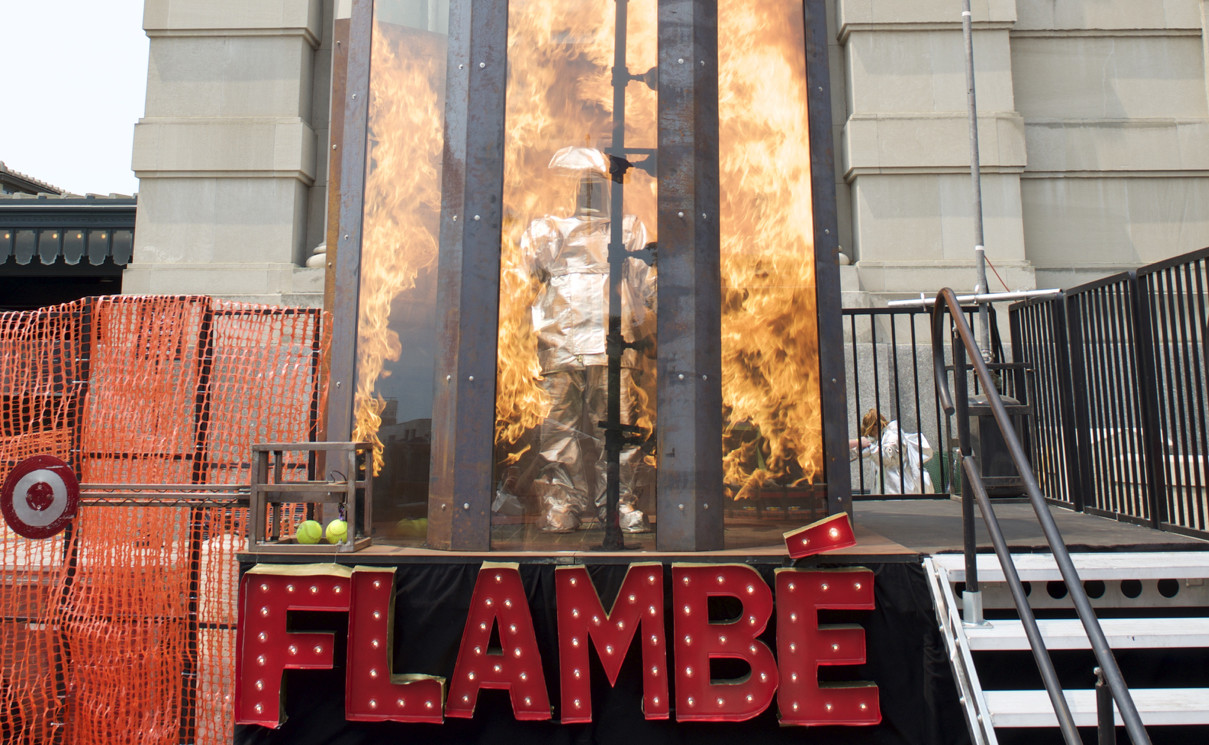 The Dunk Tank Goes Extreme with This Fire-Spewing Chamber