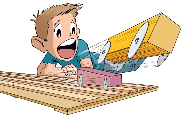 Howtoons: Build a Pinewood Derby Track at Home