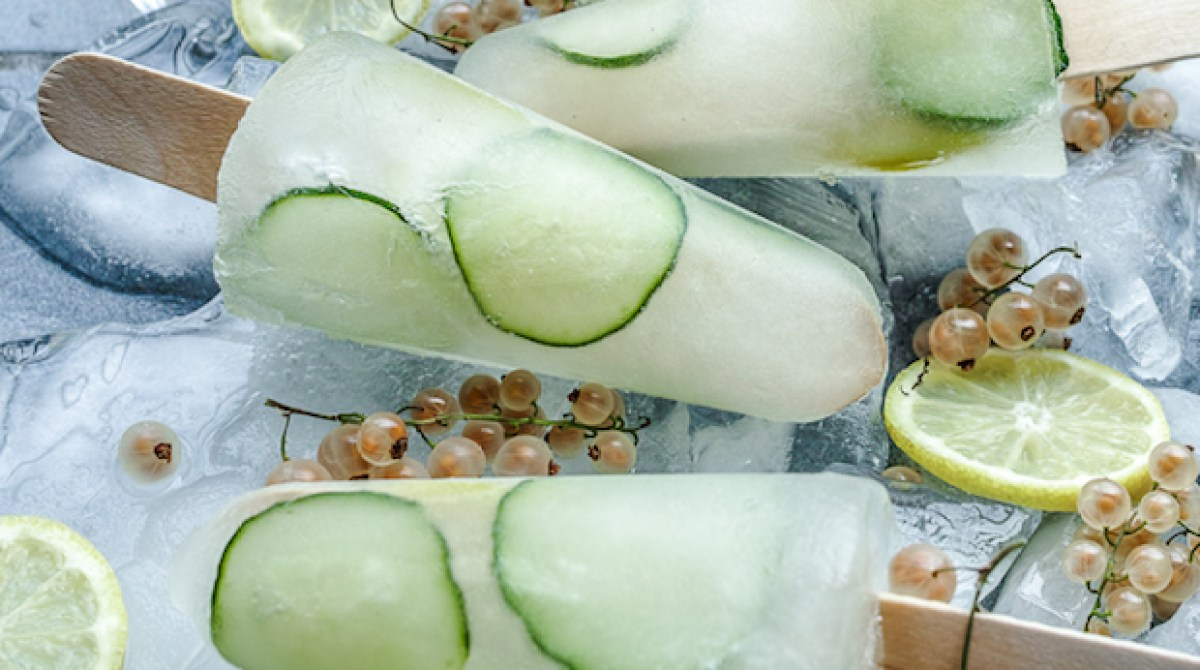 Gin O'Clock: White Currant and Cucumber Gin Popsicles