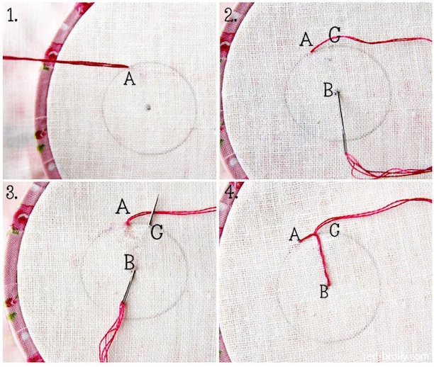 Embroidery Basics: Pinwheel Stitch
