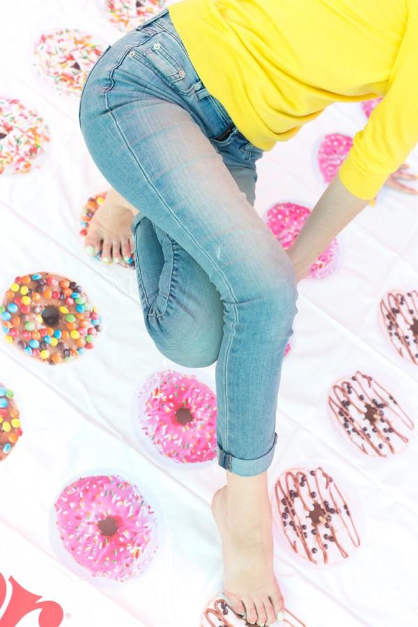 Good Sweet Fun: DIY Donut Twister Game Mat