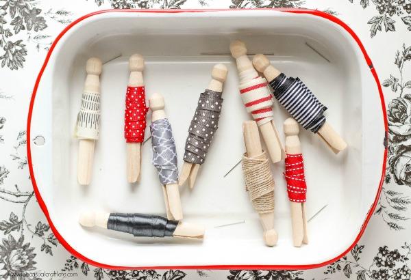 Organization Inspiration: Store Ribbon Scraps on Clothespins