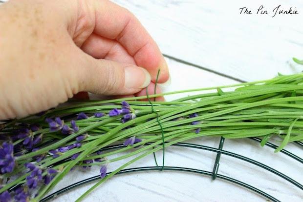Floral Decor: Fresh Lavender Wreath