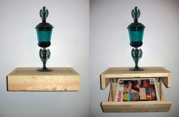 Floating Shelf With Secret Compartment by stephenjacklyn — via Instructables