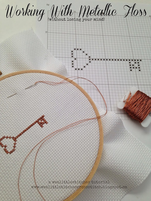 Embroidery Basics: Working with Metallic Floss (Without Losing Your Mind)