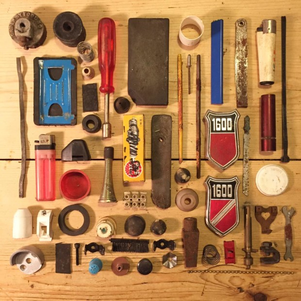 An arrangement of old tools