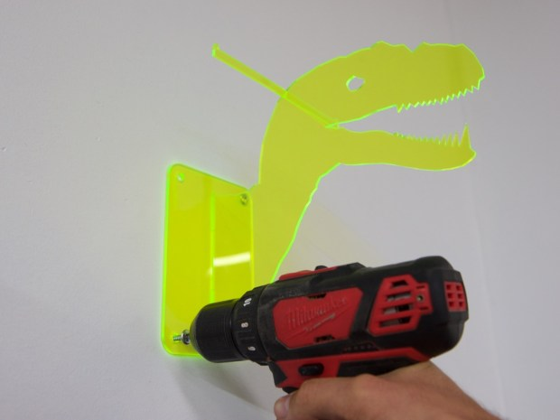 Spruce Up Your Workshop with These Laser Cut Dinosaur Safety Gear Holders