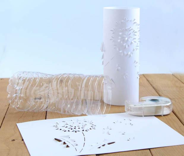 Make a Set of DIY Paper Dandelion Lanterns