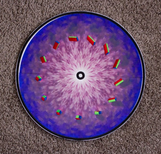 embroidered zoetrope background