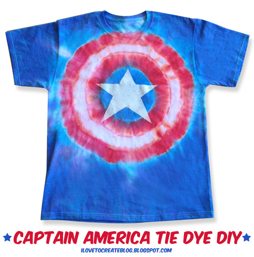 Fashion for the 4th: Captain America Tie-Dye T-shirt