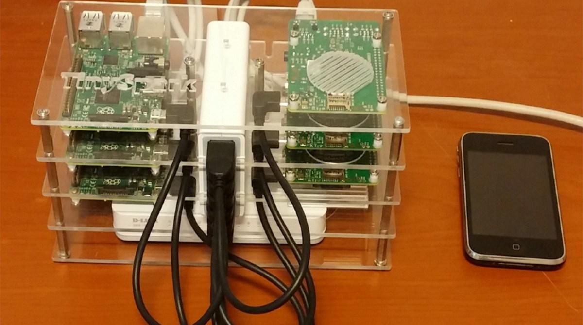 Custom Case Makes a 6 Piece Raspberry Pi Cluster