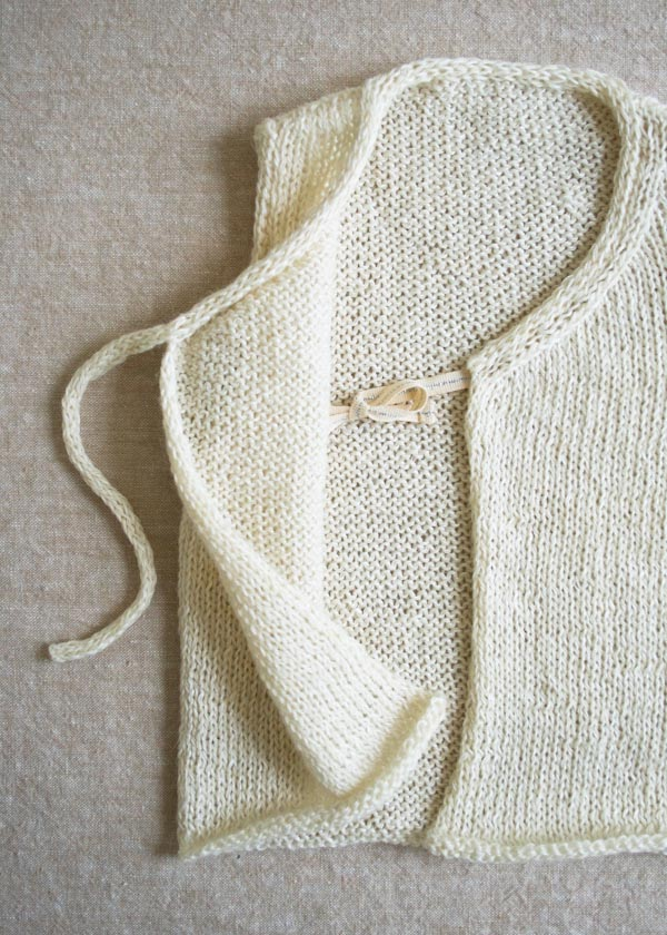 Handmade Kids: Knit Linen Vest for Babies