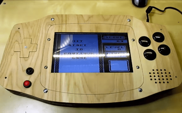 wooden game boy advance