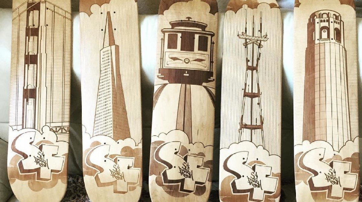 Laser Engraved Skateboards Are Too Beautiful to Ride