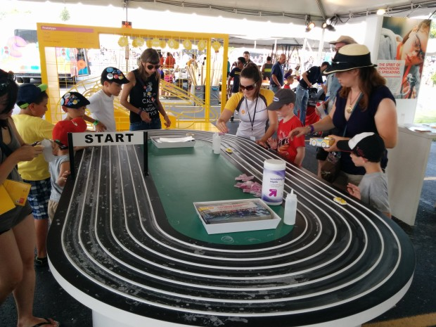 Shell demoed a classic oval track