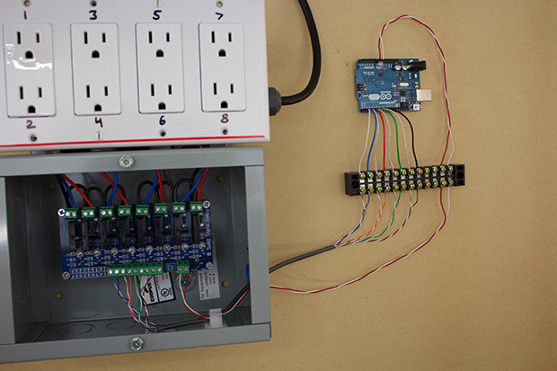use arduino and relays to control ac lights and appliances make rh makezine com Arduino Relay Shield Project Arduino Relay Connections