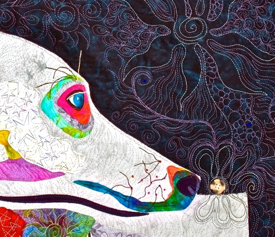 Lily the Wonder Whippet (detail)