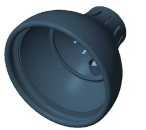 The 3D printed head has a Hitec 5065MG servo inside.