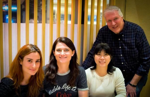 Lem hanging out in Akihabara discussing robots with Morgane Alzieu, Fanny Bouton and Yuki Nakagawa.