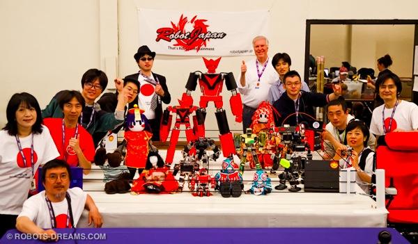 Lem with the Robot Japan team at RoboGames 2012.