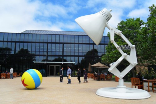 The 15-foot Luxo Jr. outside Pixar's main building (source: Michigan Daily)
