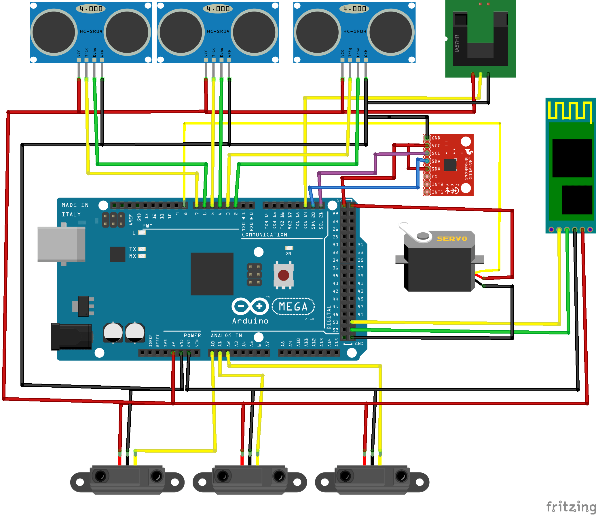 Build Your Own Android Powered Self Driving R C Car Make Arduino Can Bus Wiring Diagram Also Mini Usb Pinout Fritzing Another Way To Visualize The Sensor Of Autonomous