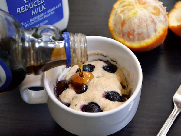 Morning Treat: Quick and Easy Blueberry Mug Muffins