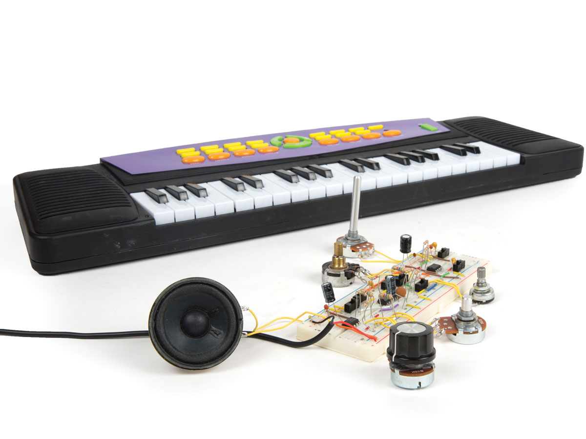 Make A Wave Shaper Multifunction Sound Synthesizer Audio Generator Is Controlled By Light Electronic Projects