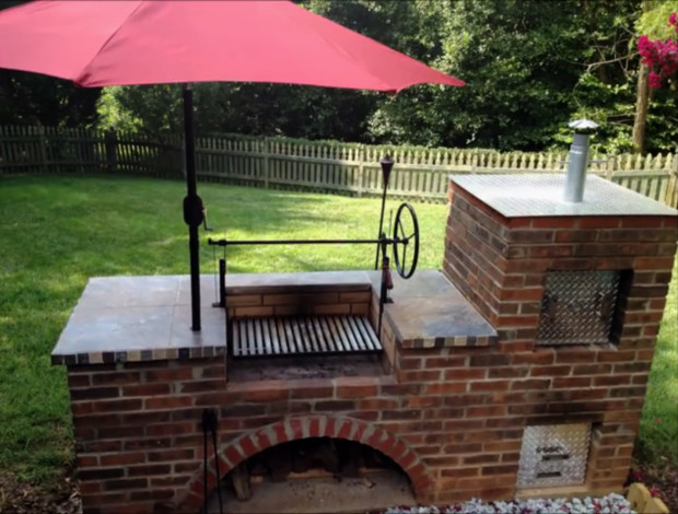 Excellently Constructed Argentine Grill And Smoker