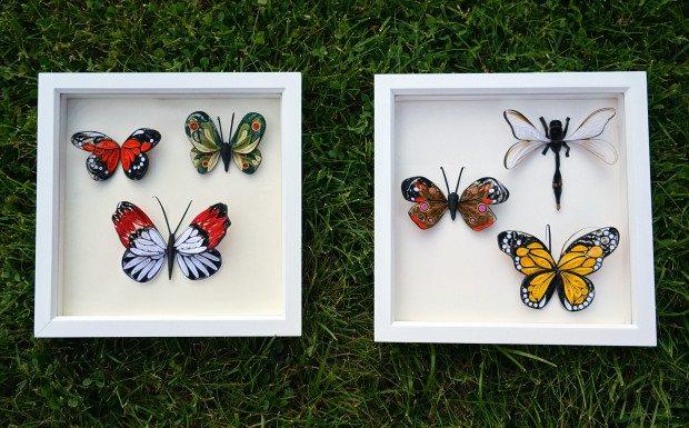 quilled butterflies picture