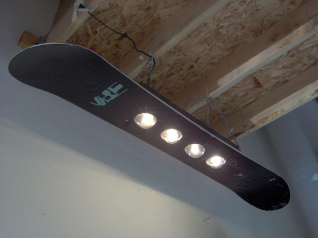 snowboard light fixture