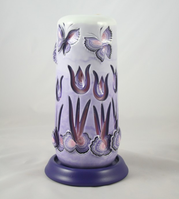 tulip carved candle
