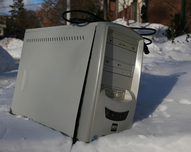 Computer in Snow