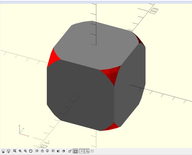 Now our model is starting to look like a die.