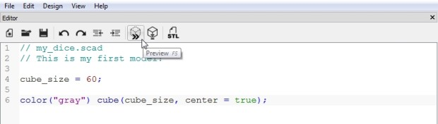 Use the cube command, and then click the Preview button.