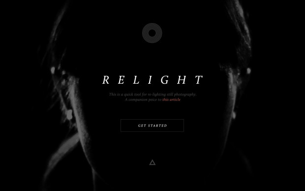 Relighting tool opening page