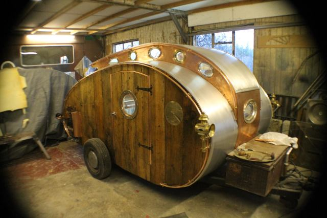 This Teardrop Trailer Lets You Camp in Steampunk Style