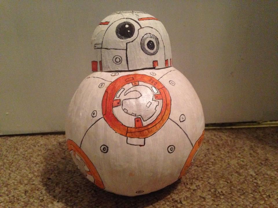 Easy No-Carve Pumpkin Idea: Star Wars BB-8
